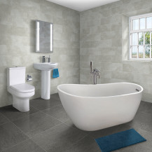 Design 1520 x 720 Slipper Bath with Maine Suite