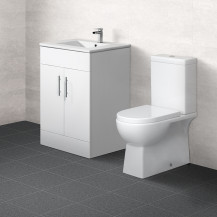 Aspen™ 60cm Vanity Unit with Salou Toilet and Soft Close Seat