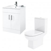 Aspen™ 60cm Vanity Unit with Salou Toilet and Soft Close Seat