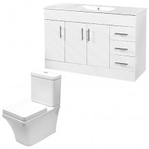Aspen™ 120cm Vanity Unit with Montana Close Coupled Toilet and Seat