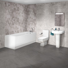 Quatro 1670 x 700 Single Ended Bath with Madison Suite
