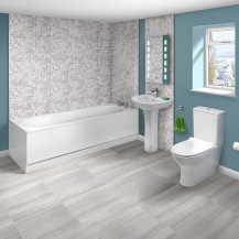 Mono 1685 x 685 Single Ended Bath with Indiana Suite