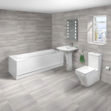 Mono 1700x700 Single Ended Bath with Indiana Suite
