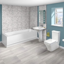 Carona 1700 x 750 Single Ended Bath with Montana Suite