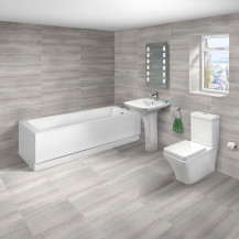 Carona 1700 x 750 Single Ended Bath with Montana Suite