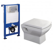 Tabor™ Wall Mounted Toilet with Fixing Frame