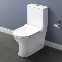 Indiana Short Projection Toilet and Soft Close Seat with Pan Connector