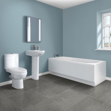 Mono 1700 x  700 Single Ended Bath with Albury Suite