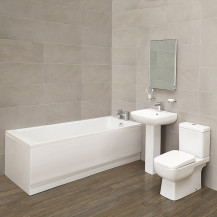 Carona 1700 x 750 Single Ended Bath with Carona Suite