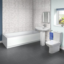 Carona 1800 x 800 Single Ended Bath with Milan Revive Suite