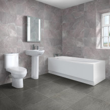 Mono 1600 x 685 Single Ended Bath with Albury Suite