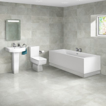 Quatro 1700 x 700 Double Ended Bath with Madison Suite