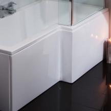 Windsor / Cuba / Aspen White 1700 MDF L Shaped Shower Bath Panel
