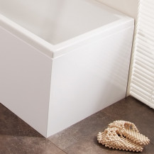 Windsor / Cuba / Aspen White L Shape Bath MDF End Panel
