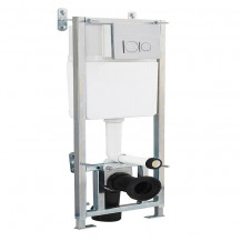Concealed Cistern Wall Frame with Chrome Plated Push Button