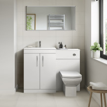 Ashford White Gloss Combination Unit with Tabor Back to Wall Toilet