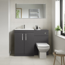 Ashford Grey Gloss Combination Unit with Tabor Back to Wall Toilet