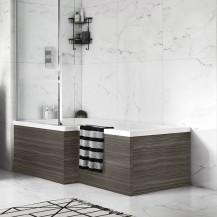 Austin 1700mm Grey Avola L-Shaped Front Bath Panel