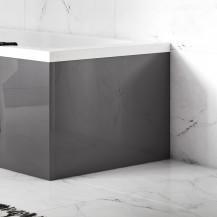 Austin 700mm Grey Gloss L-Shaped End Bath Panel