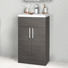 Austin 500mm Grey Avola Floorstanding Two Door Vanity Unit