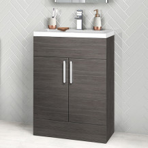 Austin 600mm Grey Avola Two Door Vanity Unit