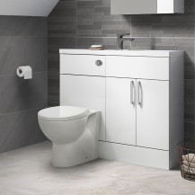 Austin White Gloss Cloakroom Combination Unit with Sofia back to wall toilet
