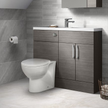 Austin Grey Avola Cloakroom Combination Unit with Tampa back to wall toilet