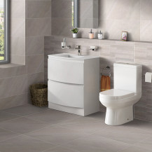 Voss™ 810 Floor Mounted Drawer Vanity Unit with Maine Toilet and Seat