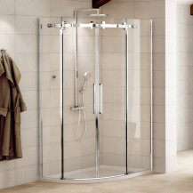 Aquafloe™ Elite ll 8mm 1000 x 1000 Frameless Sliding Door Quadrant Shower Enclosure with Tray and Waste