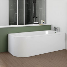 Portland 1700 x 750 J Shaped Right Hand Bath with Front Panel