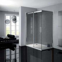Neptune 800 x 1200 Smoked Glass Sliding Door Right Hand Shower Enclosure
