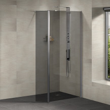 Neptune 900 Smoked Glass Walk in Shower Enclosure with 300 Return Panel