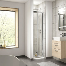 Aquafloe 760mm Bi Fold Shower Door 4mm