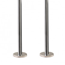 Chrome Plated Pipe & Base Covers - 300mm