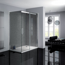 Neptune 800 x 1200 Smoked Glass Sliding Door Left Hand  Shower Enclosure