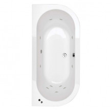1700 x 800 Bologna Luxury Double Ended 11 Jet Whirlpool Bath