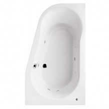 1500 x 900 Prima Offset Luxury Right Handed Corner 6 Jet Whirlpool Bath