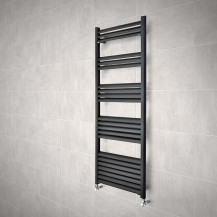 Venetian 1400 x 500 Matt Black Aluminium Heated Towel Rail