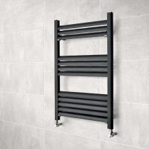 Venetian 800 x 500 Matt Black Aluminium Heated Towel Rail