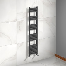 Venetian 1400 x 300 Matt Black Aluminium Heated Towel Rail