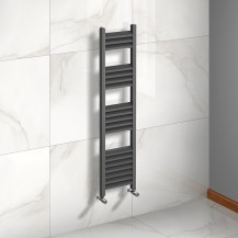Venetian 1200 x 300 Matt Black Aluminium Heated Towel Rail