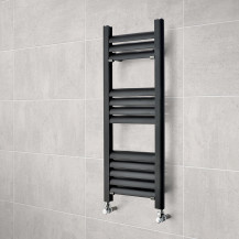 Venetian 800 x 300 Matt Black Aluminium Heated Towel Rail