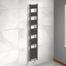Venetian 1800 x 300 Matt Black Aluminium Heated Towel Rail