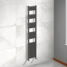 Venetian 1600 x 300 Matt Black Aluminium Heated Towel Rail
