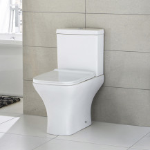 Chicago Close Coupled Toilet with Soft Close Slim Seat