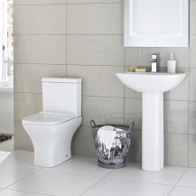 Chicago Bathroom Suite with Soft Close Slim Seat