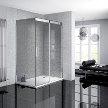 Neptune 900 x 1200 Smoked Glass Sliding Door Right Hand Shower Enclosure