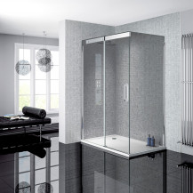 Neptune 900 x 1200 Smoked Glass Sliding Door Left Hand Shower Enclosure