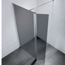 Neptune 800 Smoked Glass Walk in Shower Enclosure with 300 Return Panel