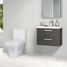 Austin 800 Grey Avola Wall Hung Vanity Unit with Montana Toilet